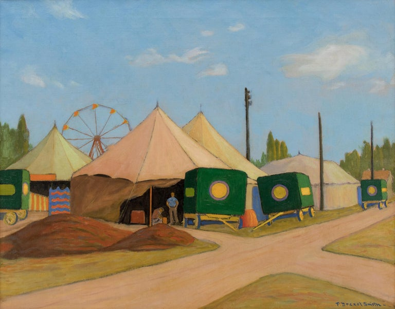 The Wortham Shows (Circus) - Painting by Francis Drexel Smith