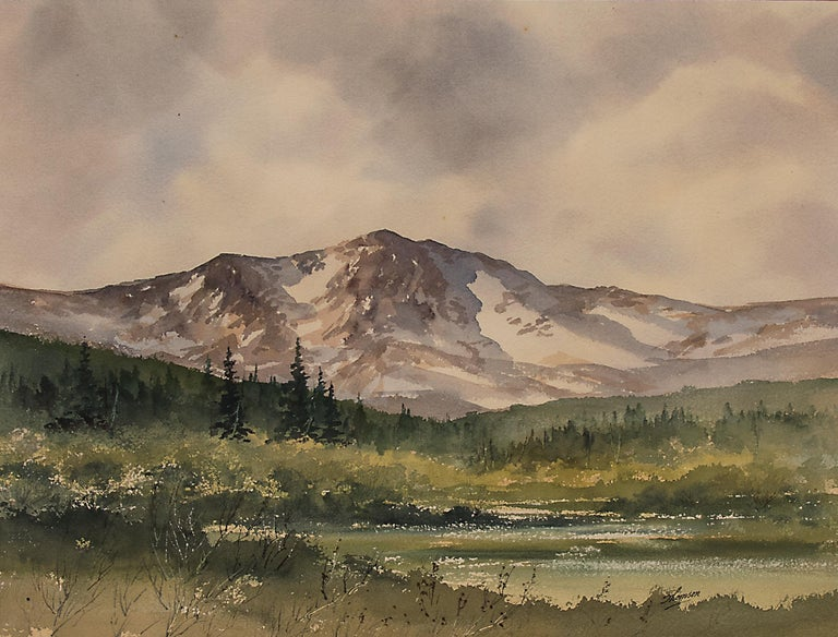 Moraine Park, Rocky Mountain National Park (Colorado) - Painting by Herbert E. Thomson