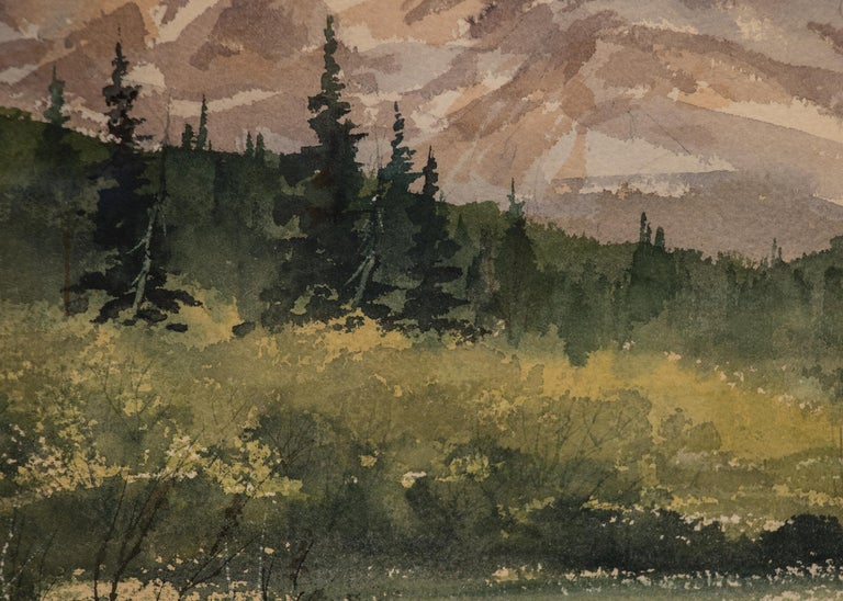 Moraine Park, Rocky Mountain National Park (Colorado) - Brown Landscape Painting by Herbert E. Thomson