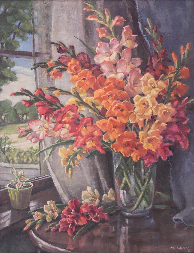 Glads (Interior Still Life with Gladiola) For Sale 1