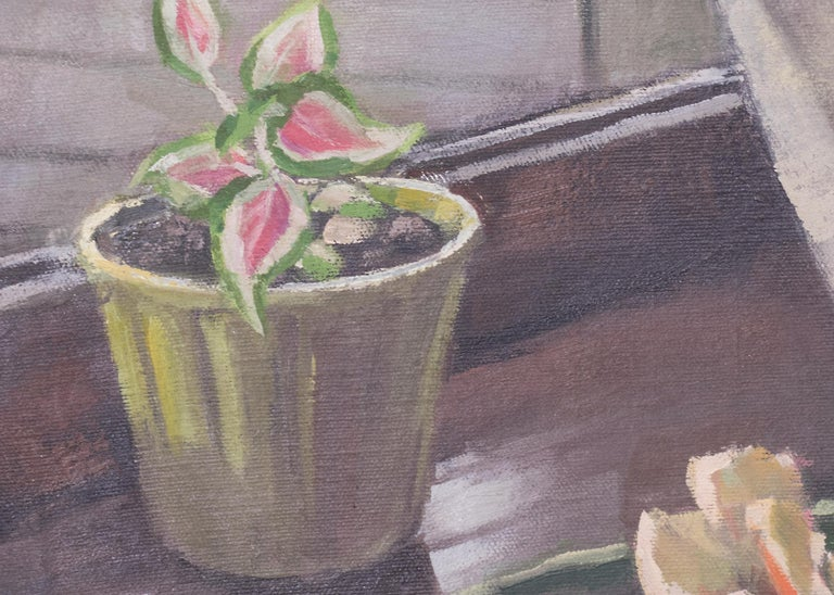 Glads (Interior Still Life with Gladiola) For Sale 4