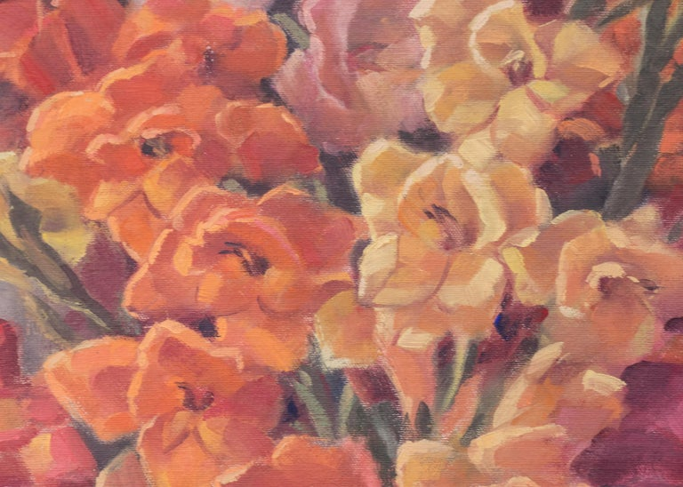 Glads (Interior Still Life with Gladiola) For Sale 5