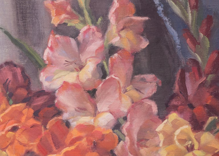 Glads (Interior Still Life with Gladiola) For Sale 6