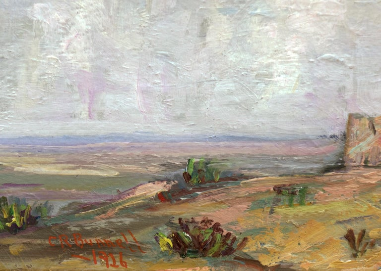 Untitled (Colorado Landscape with Buttes, Prairie and Sky) - American Impressionist Painting by Charles Bunnell