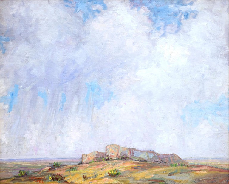 Untitled (Colorado Landscape with Buttes, Prairie and Sky) - Painting by Charles Bunnell