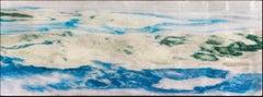 OCEANA, Watercolors, White, Blue, Green, Landscape, Waterscape