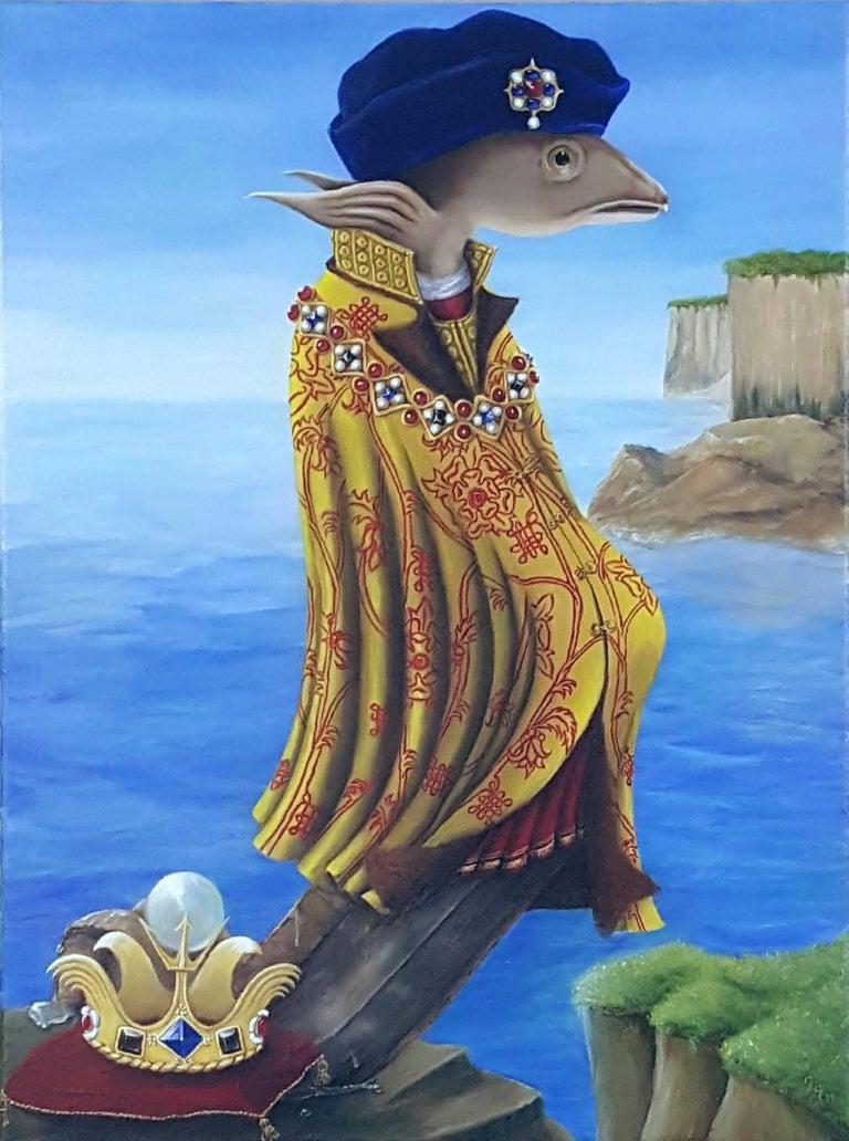 Georgia Griffin Figurative Painting - King Richard Eel