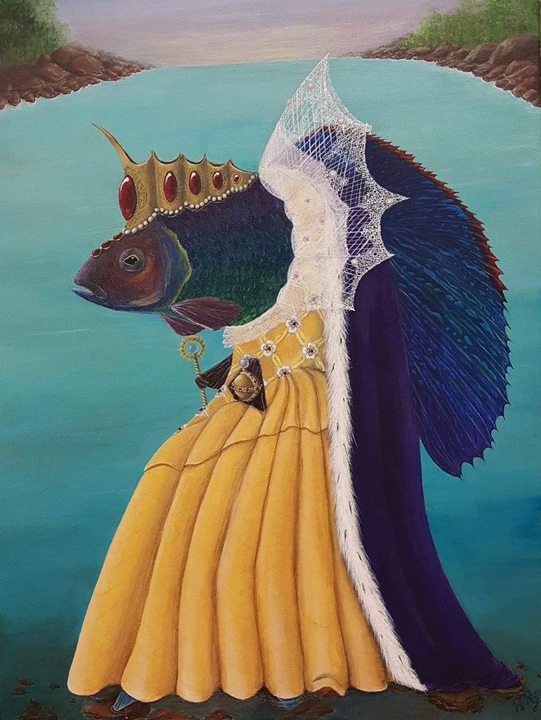 Georgia Griffin Animal Painting - Queen Elizafish