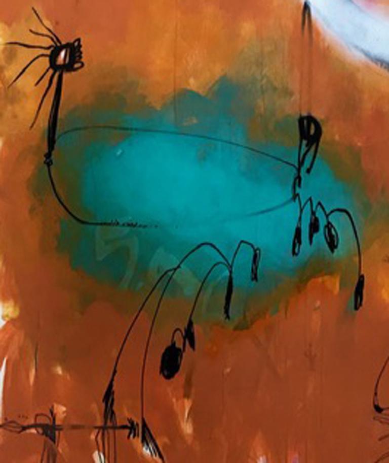 Caliente y Frio  - Painting by Jody Levinson