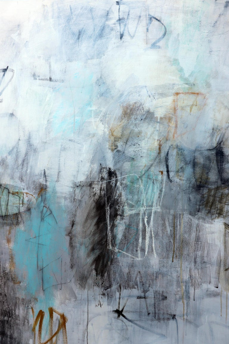During A Rainy Afternoon - Abstract Expressionist Painting by Julie Schumer