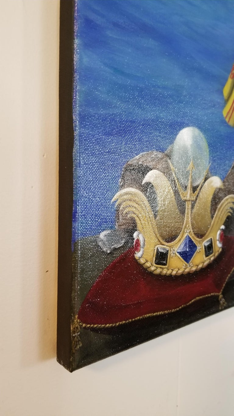 King Richard Eel - Painting by Georgia Griffin