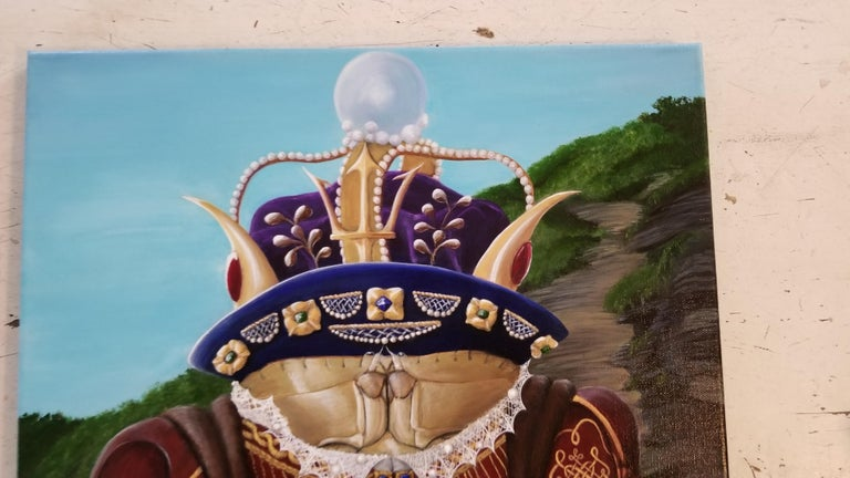 King Henry Vlll Crabbe - Brown Figurative Painting by Georgia Griffin