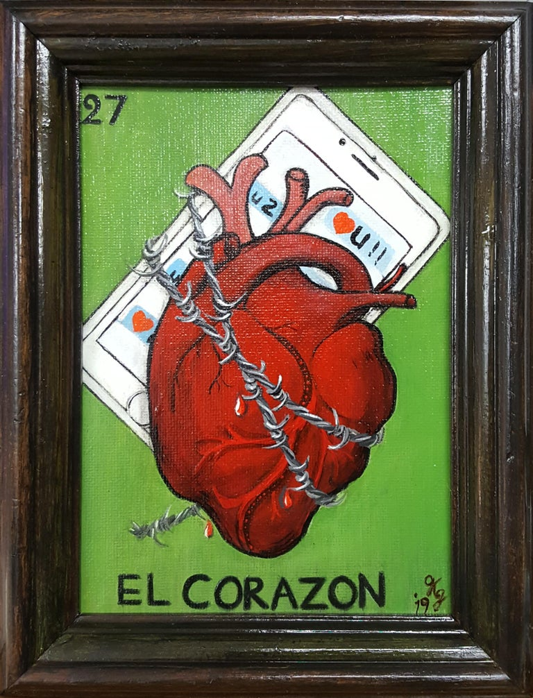 El Corazon - Painting by Georgia Griffin