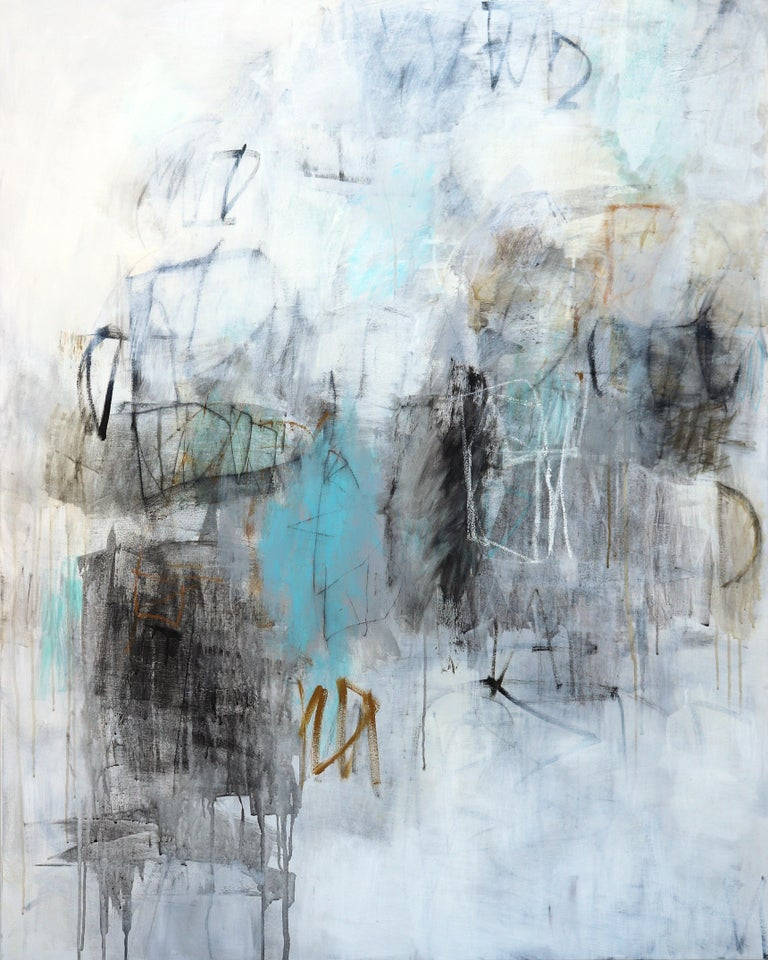 Julie Schumer Abstract Painting - During A Rainy Afternoon