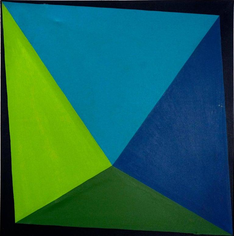 Triangulo de Azules - Painting by Maria Eugenia Casuso