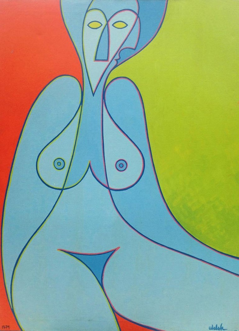 Kenneth B Walsh Nude Painting - Blue Watusi