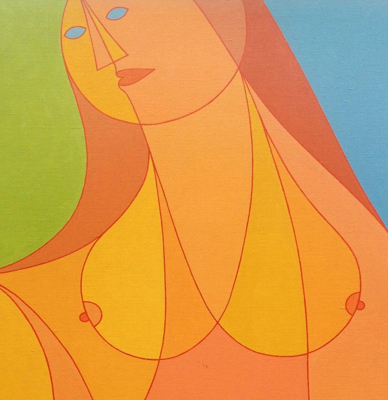 Golden Lady - American Modern Art by Kenneth B Walsh