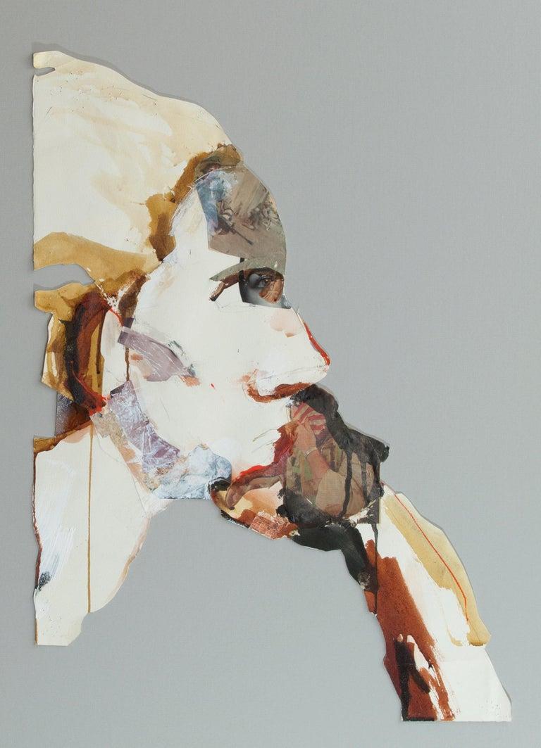 Heather Cut-Out Head - Mixed Media Art by Geoffrey Stein