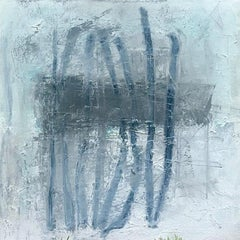 Blue Vertical (framed)
