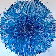 Big Blue Flower Panel