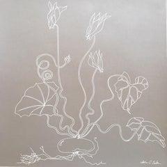 Cyclamen line drawing .03