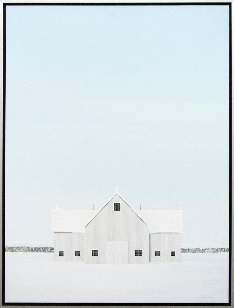 F. Lipari Landscape Painting - Winter White
