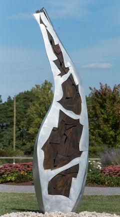 Bird - tall, modern, abstract, contemporary, aluminum outdoor sculpture