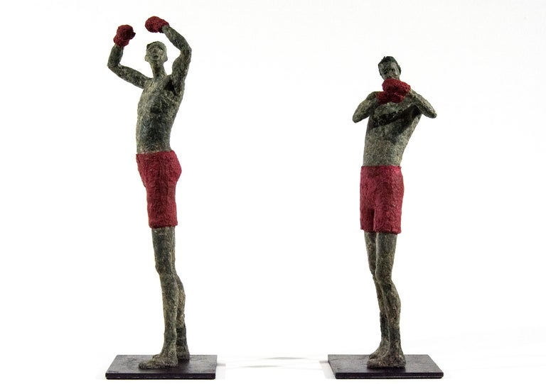 Paul Duval Figurative Sculpture - The Winning Boxer (Boxeurs gagnant)
