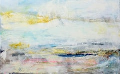 End of Day, lyrical abstract painting in pastel colors