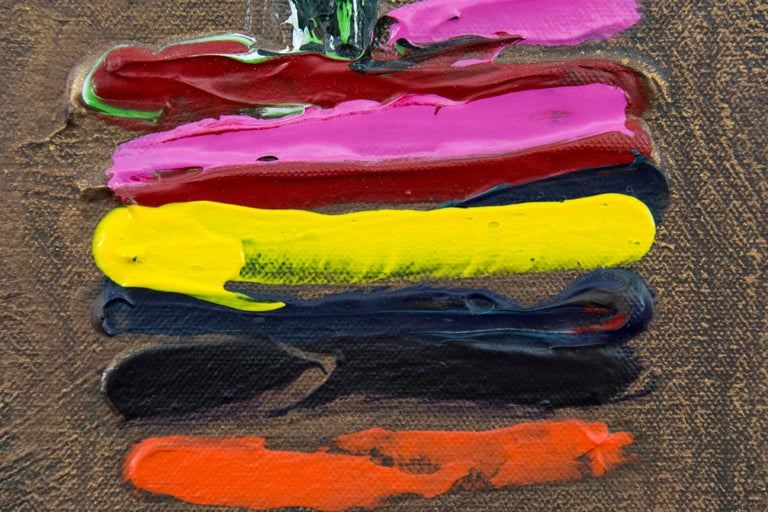 Jasmin - Black Abstract Painting by David Bolduc