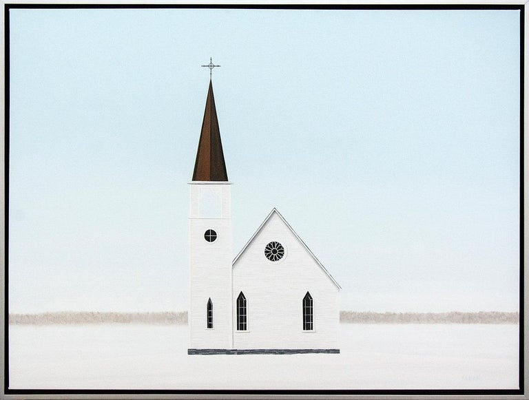 F. Lipari Landscape Painting - Frozen in Time