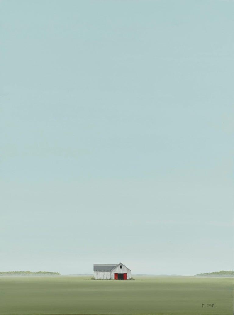 F. Lipari Landscape Painting - Hay Stash