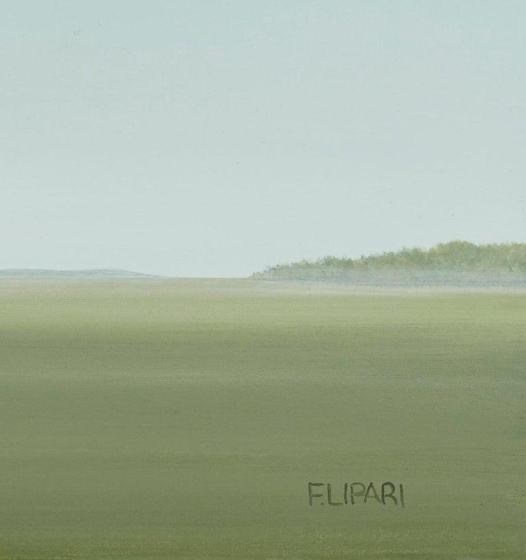 Hay Stash - Blue Landscape Painting by F. Lipari