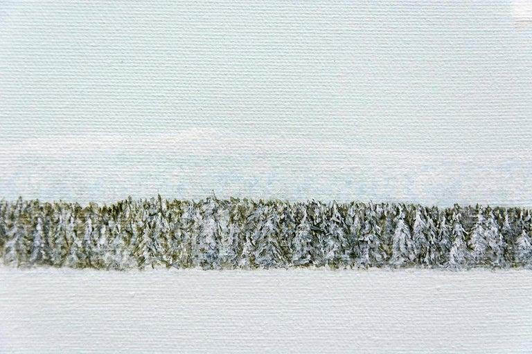 Winter White - Contemporary Painting by F. Lipari