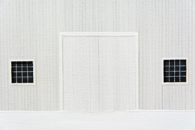 Winter White - Gray Landscape Painting by F. Lipari