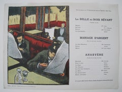 Program for Le Belle Au Bois Revant, Mariage D'Argent, Ahasvere. 12 June 1893.
