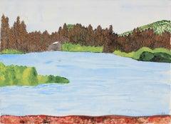 """Manzanita Lake"" Lassen Volcanic National Park, Watercolor Landscape, 2016"