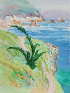 """Young Monterey Cypress, Point Lobos"" Seaside Botanical Watercolor, 1999"