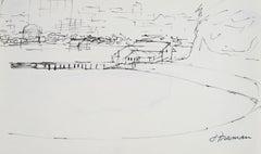 Bay Area Coastal Scene in Ink, 1976