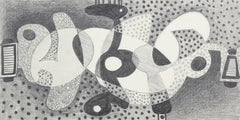 Optical Art Abstract in Graphite, 1974