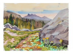 """Above Lake Alpine: Ebbets Pass"" Watercolor Landscape Painting"
