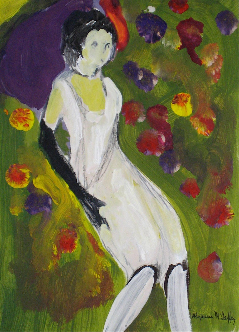 Bay Area Figurative Painting of Woman, Circa 1950s- 1960s
