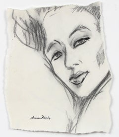Portrait of a Woman, Graphite on Paper, Late 20th Century