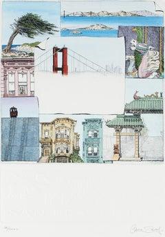 20th Century Etching of Mini San Francisco Scenes