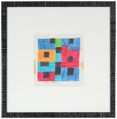 1970s Mixed Media Geometric Abstract