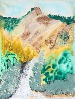 """Dry Creek"" Lost Coast Mendocino, CA Mixed Media on Paper"
