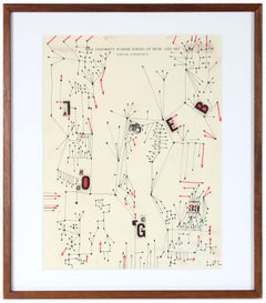 Modernist Abstract Ink Drawing, 1967