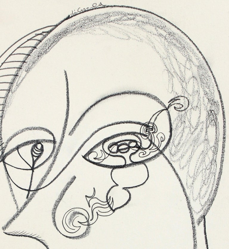 Late 20th Century Psychedelic Portrait Drawing - Art by Michael di Cosola