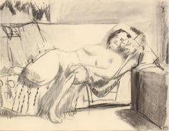 20th Century Drawing of a Reclining Figurative