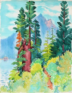"""Trail to Indian Rock II"" Vibrant Watercolor on Paper"